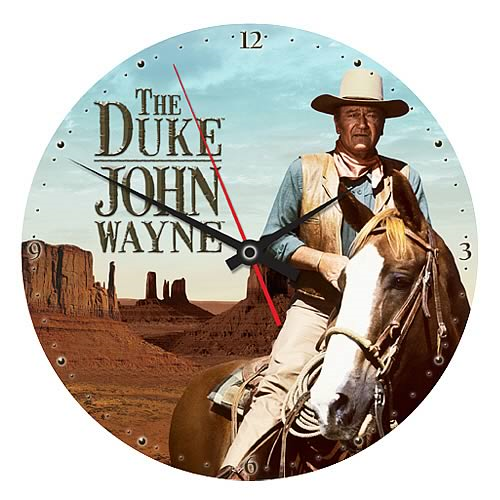 John Wayne The Duke Wood Wall Clock