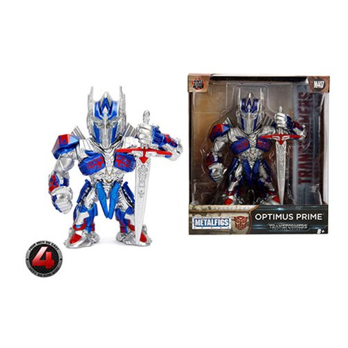 Transformers The Last Knight Optimus Prime Metals 4-Inch Die-Cast Metal Action Figure