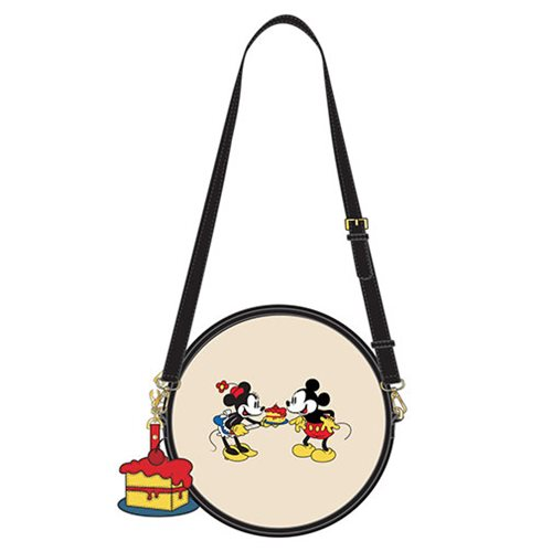 Mickey Mouse and Minnie Mouse Cake Crossbody Purse