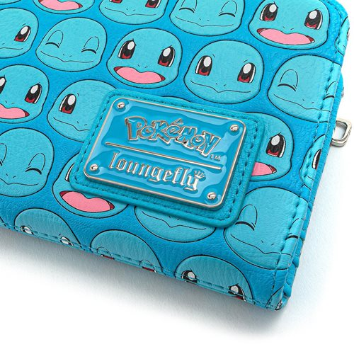 Pokemon Squirtle Faces Top-Zip Wallet