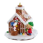 Peanuts Gingerbread House Light-Up Table Piece