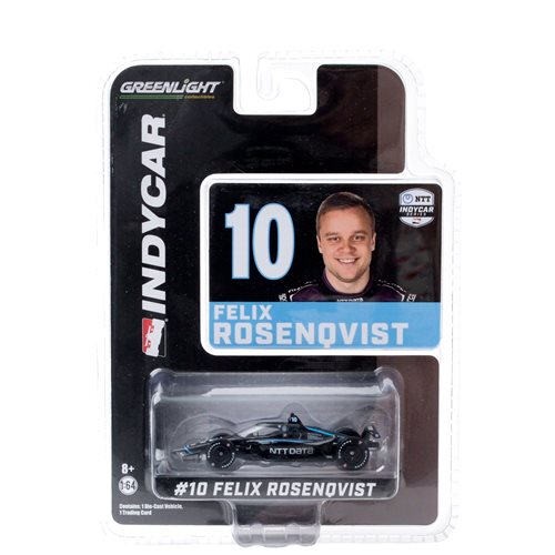 2020 NTT IndyCar Series #10 Felix Rosenqvist Chip Ganassi Racing NTT Data 1:64 Scale Die-Cast Vehicle with Trading Card