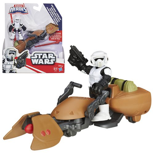 Star Wars Galactic Heroes Speederbike and Biker Scout