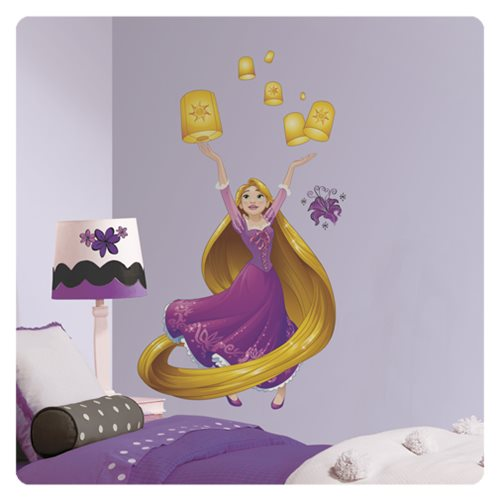 Tangled Rapunzel Disney Sparkling Princess Peel and Stick Giant Wall Decals