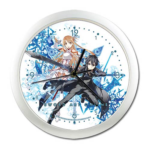 Sword Art Online Kirito and Asuna Wall Clock