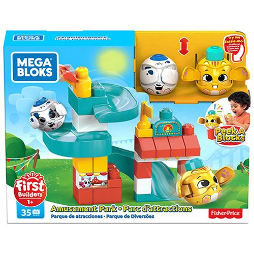 Mega Bloks Peek A Blocks Amusement Park Playhouse
