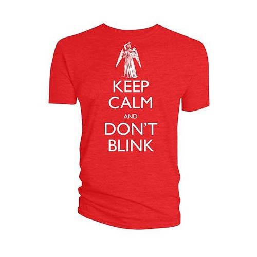 Doctor Who Keep Calm and Don't Blink Red T-Shirt