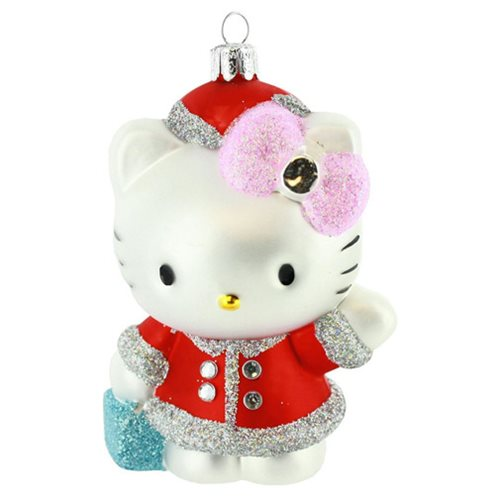 Hello Kitty 5-Inch Red Glass Ornament