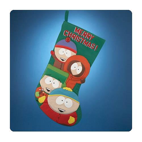 South Park Christmas.South Park Printed Applique 19 Inch Christmas Stocking