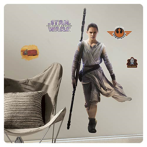 Star Wars: Episode VII - The Force Awakens Rey Giant Wall Decal