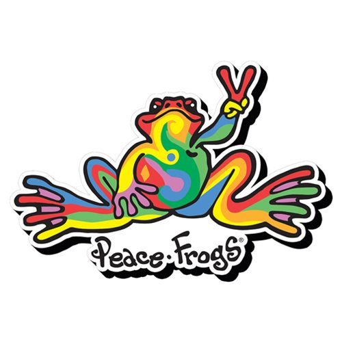 Peace Frogs Swirl Funky Chunky Magnet