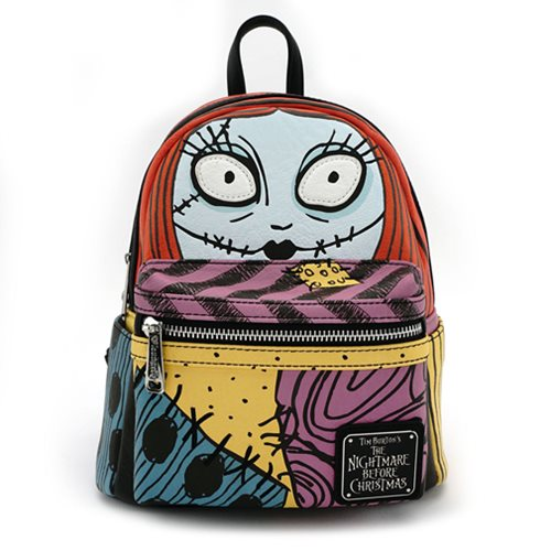 Nightmare Before Christmas Sally Cosplay Face PU Mini-Backpack