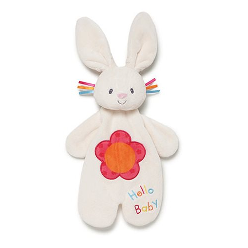 Flora Bunny Lovey Activity Plush Blanket