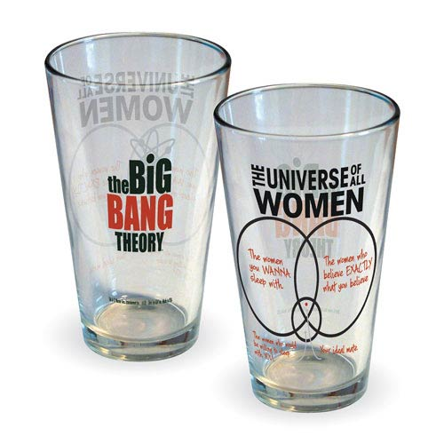 Big Bang Theory Universe of All Women Pint Glass