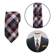 Star Wars Darth Vader Plum Modern Plaid Mens Tie