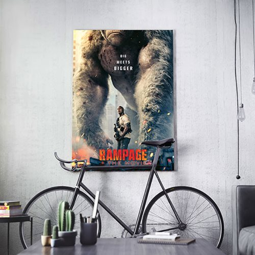 Rampage Movie Poster MightyPrint Wall Art Print