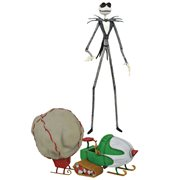 Nightmare Before Christmas Select Series 9 Snowmobile Jack Skellington Action Figure, Not Mint