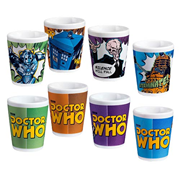 Doctor Who Comic Book Ceramic Mini-Glass 4-Pack