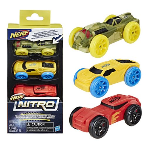 Nerf Nitro Foam Car 3-Pack 5