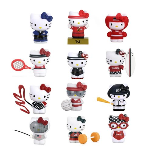 Sanrio Hello Kitty x Team USA Vinyl Mini-Figure Display Tray