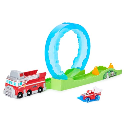 PAW Patrol True Metal Ultimate Fire Rescue Track Set with Marshall Die-Cast Vehicle