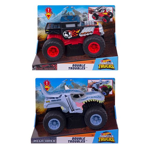 Hot Wheels Monster Trucks 1:24 Scale Double Troubled Mix 3 Case