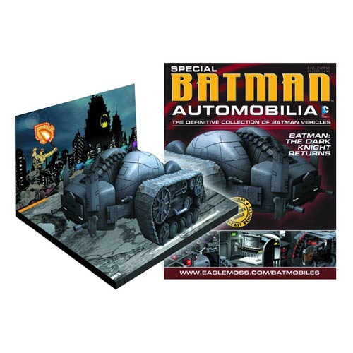 Batman Dark Knight Returns Tank Die-Cast Metal Vehicle with Collector Magazine