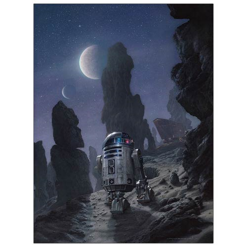 Star Wars R2-D2 Artoo's Lonely Mission Canvas Giclee Print