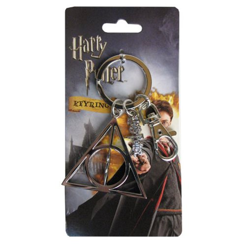 Harry Potter Deathly Hallows Pewter Key Chain