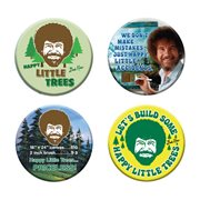 Bob Ross Button 4-Pack