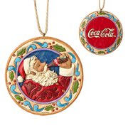 Coca-Cola Santa Disk Sundblom Santa Ornament by Jim Shore
