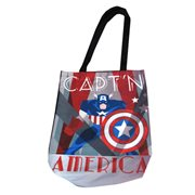 Marvel Comics Captain America Deco Shopper Tote Bag