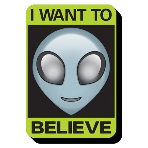 Alien Believe Sign Funky Chunky Magnet