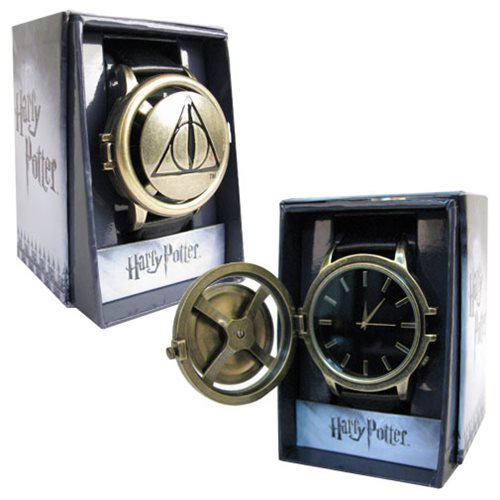 Harry Potter Deathly Hallows Logo Strap Spinner Watch
