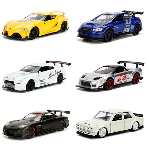 JDM Tuners 1:32 Scale Die-Cast Metal Vehicles Wave 3 Display Tray