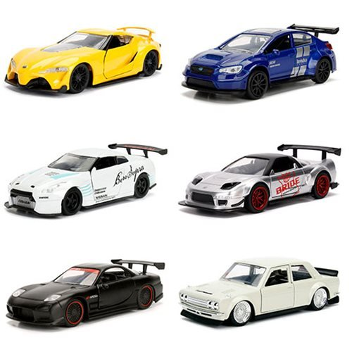 JDM Tuners 1:32 Scale Die-Cast Metal Vehicles Wave 2 Display Tray