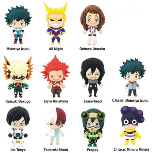 My Hero Academia 3-D Figural Key Chain Display Case