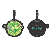 Rick and Morty Portal PU Luggage Tag
