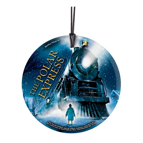 The Polar Express Train StarFire Prints Hanging Glass Print