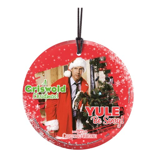 National Lampoon's Christmas Vacation Yule Be Sorry StarFire Prints Hanging Glass Print