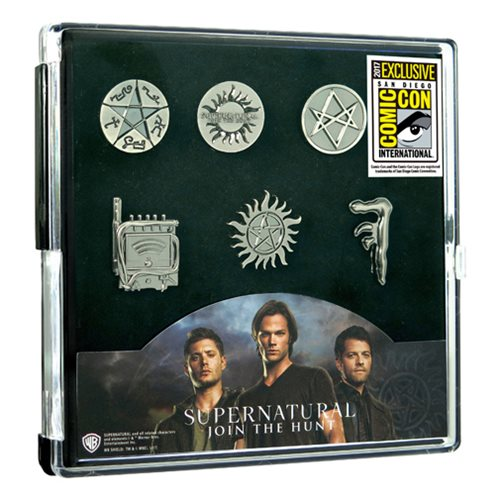 Supernatural Pewter Pin 6-Pack - San Diego Comic-Con 2017 Exclusive
