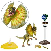 Jurassic Park Dilophosaurus 6-Inch Scale Amber Collection Action Figure, Not Mint