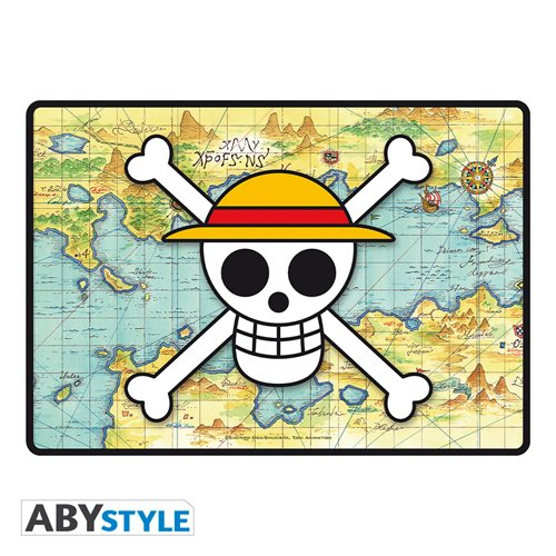 One Piece Skull with Map Gaming Mousepad