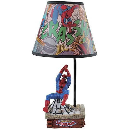 Spider-Man Statue Lamp