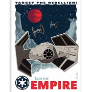 Star Wars Target the Rebellion by Brian Miller Silk Screen Art Print
