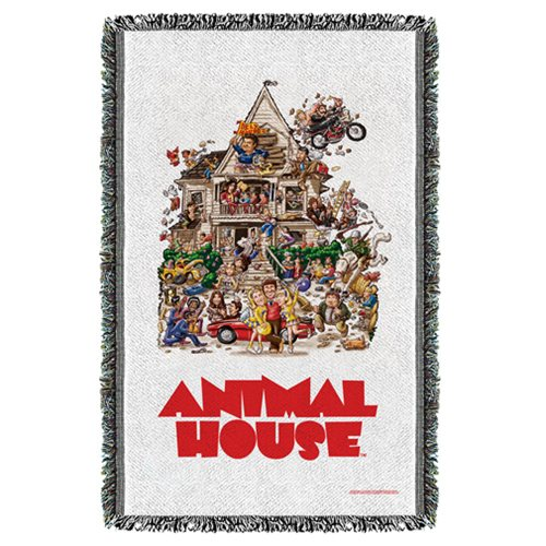 Animal House Poster Woven Tapestry Throw Blanket