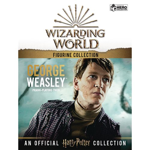 Harry Potter Wizarding World Collection George Weasley Figure with Collector Magazine