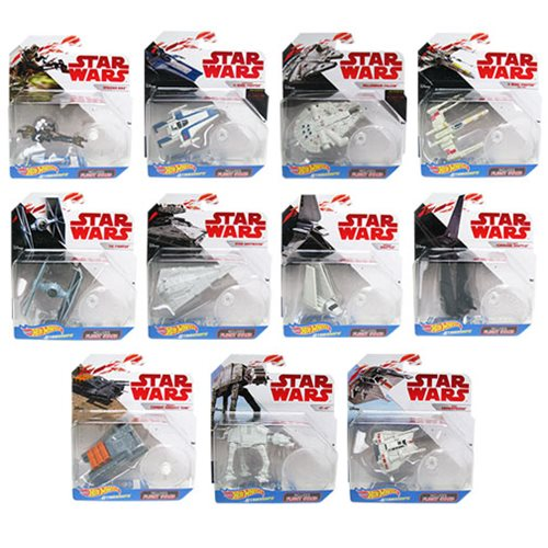 Star Wars The Last Jedi Hot Wheels Starship 2018 Wave 2 Case
