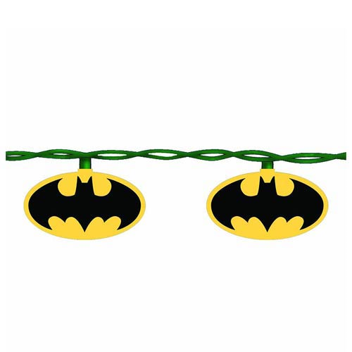 Batman Bat Signal 10-Light Christmas Tree Lights Set