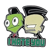 Invader Zim I Hate You Soft Enamel Pin